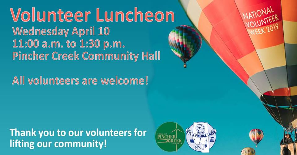 Volunteers are invited to join us for lunch