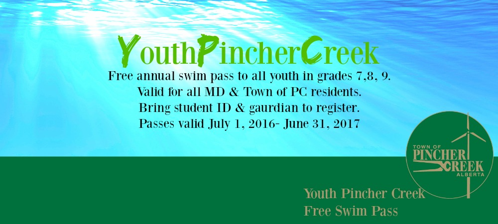 A free swim membership for students entering  Grade 7, 8 &9 in the fall of 2016. Click for more details